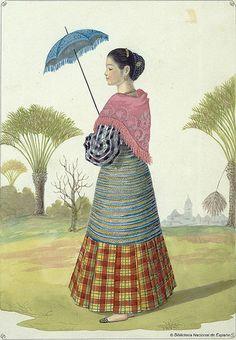 India de Manila, 1847 | Flickr - Photo Sharing! Filipino Art, Filipino Culture, Philippines Fashion, Philippines Culture, Manila, Filipiniana Dress, Filipino Fashion, Philippine Art, Filipina Beauty