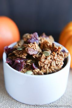 Pumpkin Maple Pecan Granola {V+GF} | Vanilla And Bean