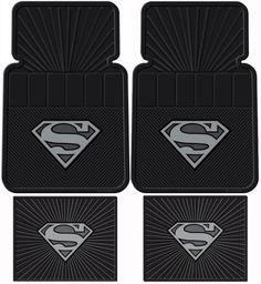 Superman DC Comics Silver Flake - Front & Rear Rubber Car Floor Mat Set 2 - Front floor mats that are approx. x 2 - Rear floor mats that are approx. Superman Man Of Steel, My Superman, Superman Stuff, Batman, Waiting For Superman, Steel Dc Comics, Superman Symbol, Rubber Mat, Pokemon Cosplay