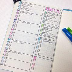 Getting ready for the week ahead! 🖊🗒📘😘 #weeklyspread #bulletjournal #bulletjournaljunkies #bujo #planning #organisation