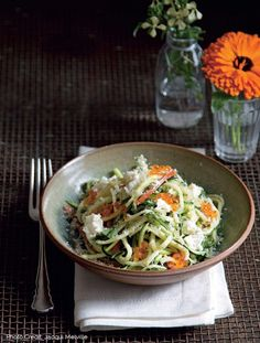 Salted & Lemoned Raw Zucchini, Fromage Blanc & Grated Almond recipe from Mr. Wilkinson's Fall and Winter Vegetables