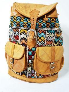 bohemian pattern on back pack