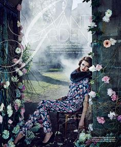 ❀ Flower Maiden Fantasy ❀ women & flowers in art fashion photography - Constance Jablonski by An Le for Bloomingdale's