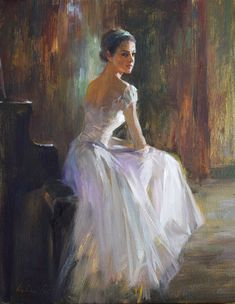 "Daily Paintworks - ""Ballerina ( 19 )"" - Original Fine Art for Sale - © Kelvin Lei Ballet Art, Ballet Dancers, Ballerina Kunst, Ballerina Painting, Mystique, Dance Art, Dance Photography, Fine Art Gallery, Figurative Art"