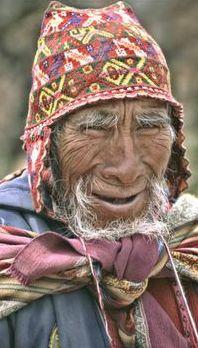 Old man in Tibet.