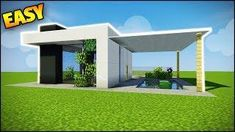 Minecraft How to Build an easy modern starter house!Teaching you how to build in Minecraft - Creative building Minecraft Mods, Minecraft Houses Survival, Minecraft Houses For Girls, Minecraft House Designs, Amazing Minecraft, Minecraft Crafts, Minecraft Creations, Minecraft House Tutorials, Minecraft Architecture