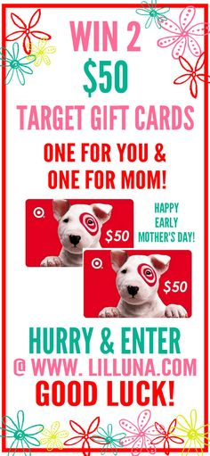 Enter to Win TWO $50 Target Gift Cards on lilluna.com - just in time for Mother's Day!!