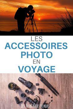 Vous partez en voyage, en vacances, en week-end et vous aimez la photographie ? Je vous donne une liste d'accessoires photo indispensables : trépied, filtre, carte mémoire, disque dur, tout est là ! #voyage #vacance #weekend #accessoires #trépied #filtre #appareilphoto #photo #photographie