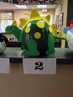 Dinosaur Pumpkin! No Carve Pumpkin! Painted Pumpkin! Decorated Pumpkin! Pumpkin Contest!