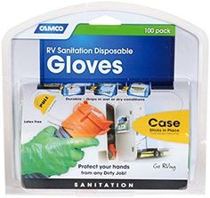 Amazon.com: Camco Durable All Purpose RV Disposable Sanitation Gloves, Will Grip in Wet or Dry Conditions, Latex and Powder Free , Heavy Duty Nitrile- Orange (100 Gloves) (40286): Automotive