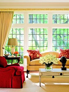 The windows make the room @Better Homes and Gardens
