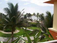 View from our balcony. Gran Bahia Principe Tulum in Mexico.