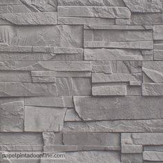 Papel Pintado New Walls NWS_1847_50_29, elegante papel de imitación pizarra en tono gris.