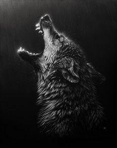 #Wolf Howling Predator Animal
