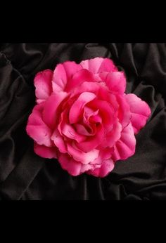 Rockabilly Rose Hair Clip with Glitter Petals in Gorgeous Fuschia