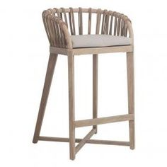 This Beautiful Malawi Tub barstool is a stunning and comfortable addition to you kitchen, bar or even as a chair at your bar height table. Made from teakwood and rattan with a clear lacquer top coat. High Bar Stools, Counter Stools, Bar Chairs, Dining Chairs, High Chairs, Bamboo Bar, Round Stool, Bar Height Table, Reclaimed Timber