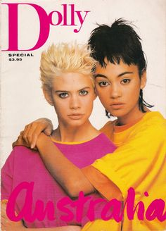 Dolly Magazine 1986 Australia special. I seem to remember these 2 plastered in zinc cream.
