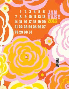January Juice! Our free downloadable calendars *sisters gulassa blog Florals, Juice, January, Calendar, Sisters, Texture, Art Prints, Retro, Blog