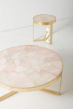 Slide View: 5: Pink Quartz Lirit Side Table