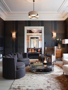 Living room in Oslo, Norway. Krista Hartmann Interiors.