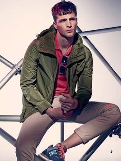 Edward Wilding Sports Casual + Tropical Fashions for Esquire UK Shoot