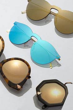 Make #NationalSunglassesDay everyday with a twirl through the Saks.com Sunglasses Boutique, where  exclusive styles and top trends from #KarenWalker, #Illesteva and more. #SaksStyle Stylish Glasses For Men, Mens Glasses, Karen Walker, Boss Lady, Sunnies, Bag Accessories, Eyewear, Mirrored Sunglasses, Pinky Rings