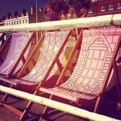 Pretty deck chairs