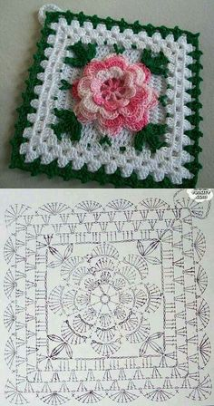 Tack with a flower knitted a hook. A beautiful tack for kitchen a hook rose, crochet, can be a nice d - Salvabrani Another inspiring and simple c This Pin was discovered by Cla Shrink your URLs and get paid!Handmade shabby chic crochet tablet cover w Crochet Flower Squares, Crochet Doily Diagram, Crochet Flower Patterns, Afghan Crochet Patterns, Crochet Chart, Crochet Motif, Crochet Flowers, Crochet Doilies, Crochet Afghans