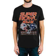 dd7ef8798 Seattle Seahawks Junk Food Super Bowl XLIX Dueling Helmets T-Shirt - Black