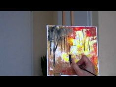 Tanja Bell Abstract Painting Trees Part 2 Tutorial Palette Knife