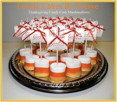 Candy Corn Marshmallow Pops by Lovely Cakes By Tresye, via Flickr