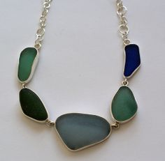 Mixed Sea Glass Necklace, $340.00