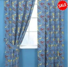 Power Rangers Curtains 54s - http://www.childrens-rooms.co.uk/power-rangers-curtains-54s.html #powerrangers #kidscurtains #themedbedroom