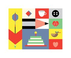 A Visual Collection of The Things I Love by Ella Zheng, via Behance