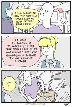 The Use of Airplane Seatbelts