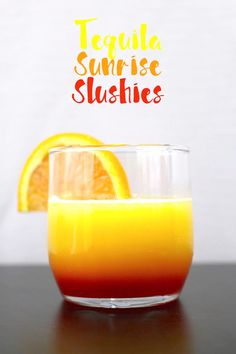 These tequila sunrise slushies are going to be your go-to summer party drink! You can easily multiply the recipe for a pitcher. Only 3 ingredients!
