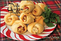 Chicken Pesto Puffs, a simple and delicious holiday appetizer