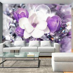 Purple Empress x Wallpaper East Urban Home Star Wallpaper, Embossed Wallpaper, Wall Wallpaper, Flor Magnolia, Halloween Birthday, Decoration Design, Wall Murals, Wall Decor, Invitations