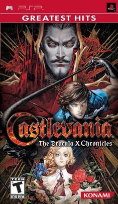 Castlevania X The Dracula Chronicles PSP Rondo of Blood and Symphony of Night Box Art