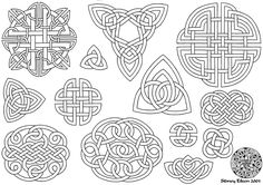 Lineart for a Celtic knotwork tattoo flash sheet I made back in micron pen on paper Lineart version is here: [link] To view the full set . Flash - Celtic Knots 1 Line Celtic Knot Meanings, Celtic Knot Designs, Symbols And Meanings, Celtic Symbols, Celtic Art, Celtic Knots, Celtic Knot Tutorial, Tattoo Flash Sheet, Celtic Patterns