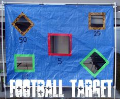 football target with pvc and a tarp and duck tape!