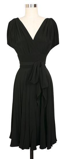 Trashy Diva Obi Dress | 1940's Inspired Dress | Rayon Crepe De Chine  sz. 18