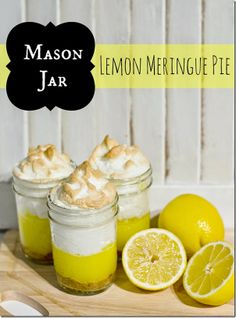 Mason Jar lLemon Meringue Pies