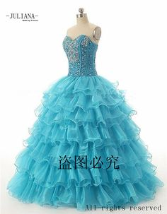 Find More Quinceanera Dresses Information about Juliana Cheap 2016 Red Blue Quinceanera Dresses Ball Gown with Beaded Crystal Organza Prom Party Sweet 16 Dresses QA934,High Quality quinceanera dresses ball gowns,China blue quinceanera Suppliers, Cheap sweet 16 dresses from Juliana Wedding Dresses Store on Aliexpress.com