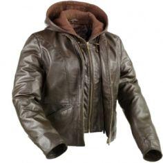 Snugrugs Leather Jacket with hood KATHERINE