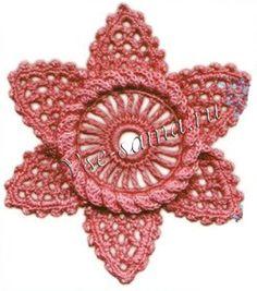 Ирландский мотив - цветок с треугольными лепестками