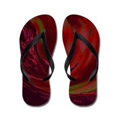 Sea of Red Flip Flops on CafePress.com       Flip Flop Thong Sandals     Sized from Kids to Adult     Waterproof     Rubber soles with matching comfort contoured straps     Durable and smooth polyester print