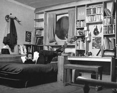 James Dean relaxing in his New York City apartment in the early '50s. - ELLEDecor.com