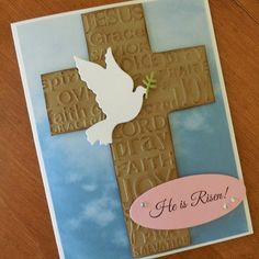 Christian Easter Card He is Risen Bible by KraftingBrighterDays