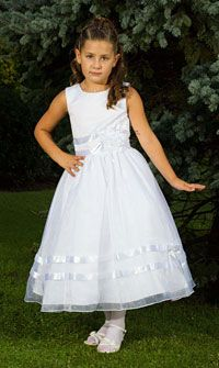 Flower Girl Dresses-Sweetie Pie Collection- Style 457- White Only